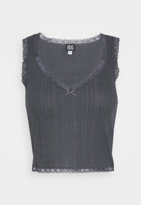 BDG Urban Outfitters - LOLA TRIM SOLID TANK - Top - washed black - 4