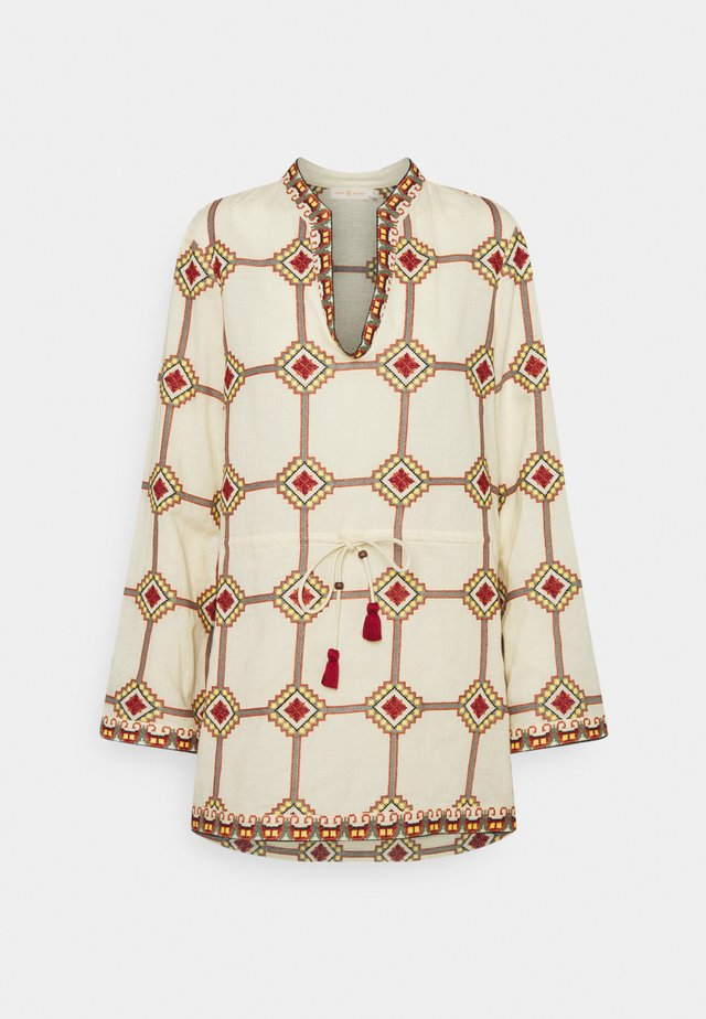EMBROIDERED TUNIC - Tunique - geo print