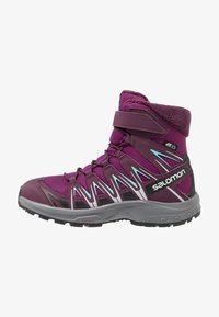 Salomon - XA PRO 3D WINTER TS CSWP - Winter boots - dark purple/potent purple/atlantis - 1