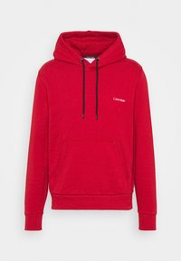 SMALL CHEST LOGO HOODIE - Hoodie - red