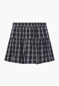 Abercrombie & Fitch - BUTTON THRU - A-line skirt - navy - 1