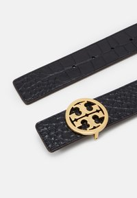Tory Burch - EMBOSSED LOGO BELT - Belt - black - 2