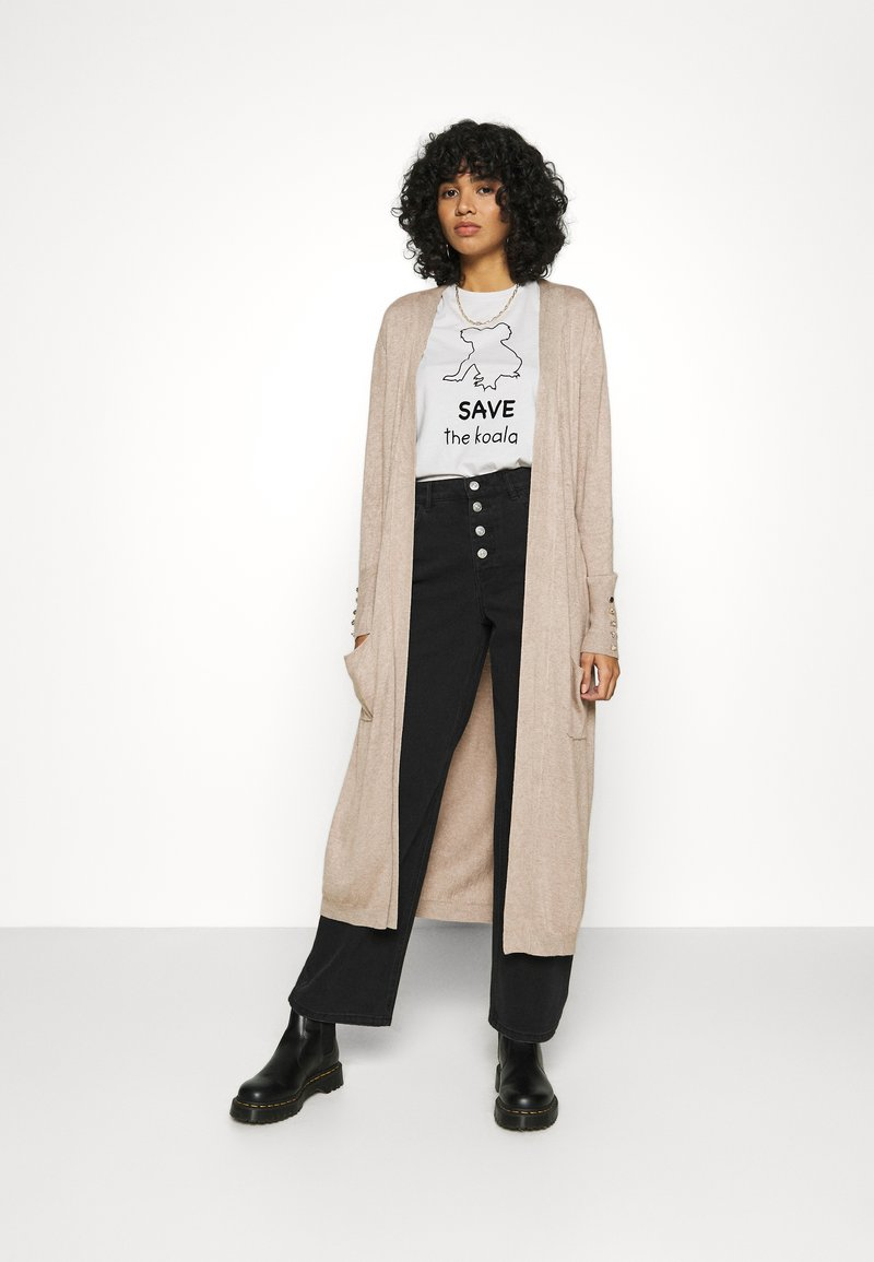 ONLY - ONLCECILIA LONG CARDIGAN - Cardigan - sand