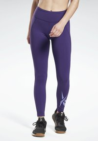 Reebok - LUX LEGGINGS - Leggings - purple - 0
