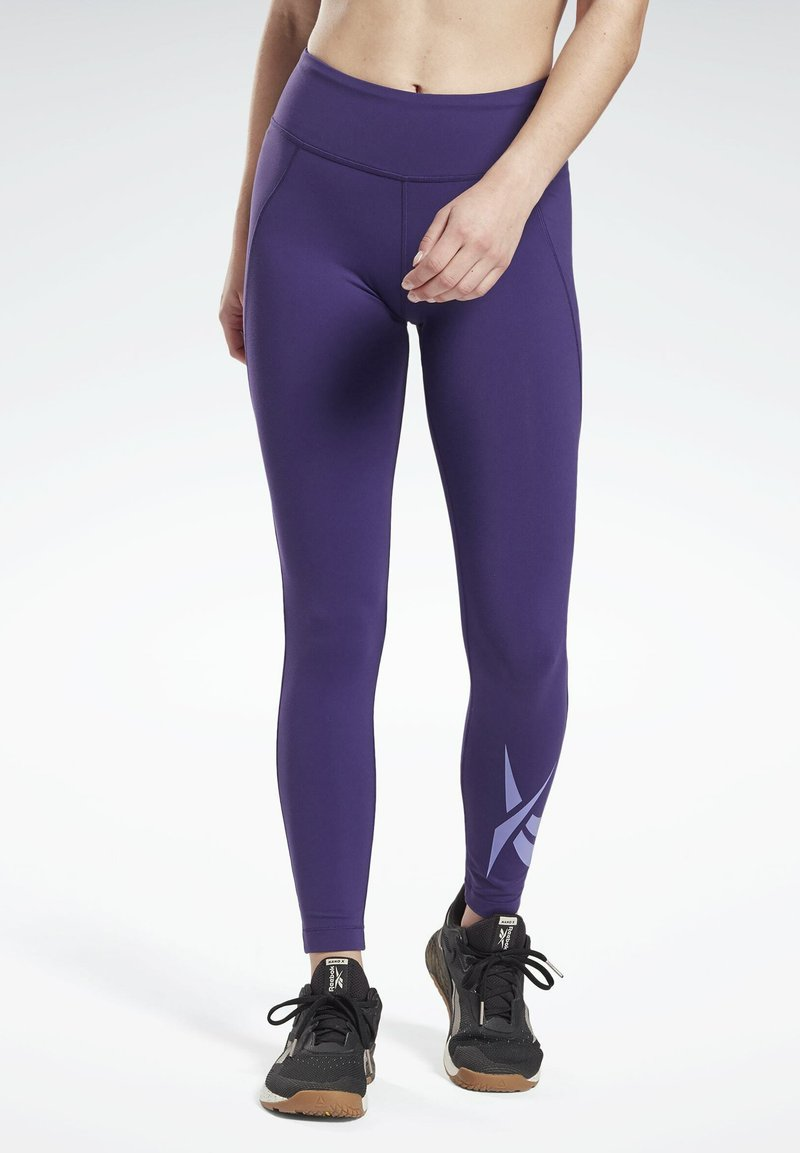 Reebok - LUX LEGGINGS - Leggings - purple