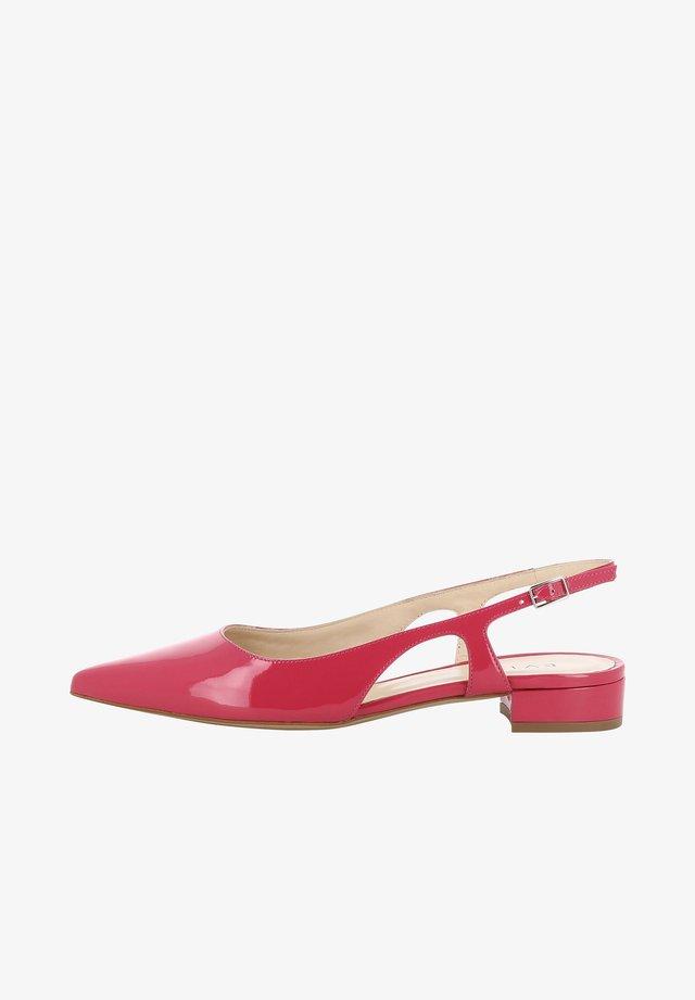 FRANCA - Slingback ballet pumps - berry