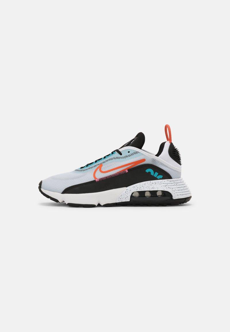 Nike Sportswear - AIR MAX 2090 UNISEX - Trainers - white/turf orange/black/aquamarine/pure platinum/lotus pink