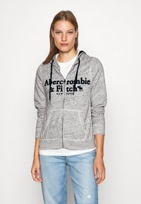 Abercrombie & Fitch - LONG LIFE FULL ZIP - Bluza rozpinana - grey - 0