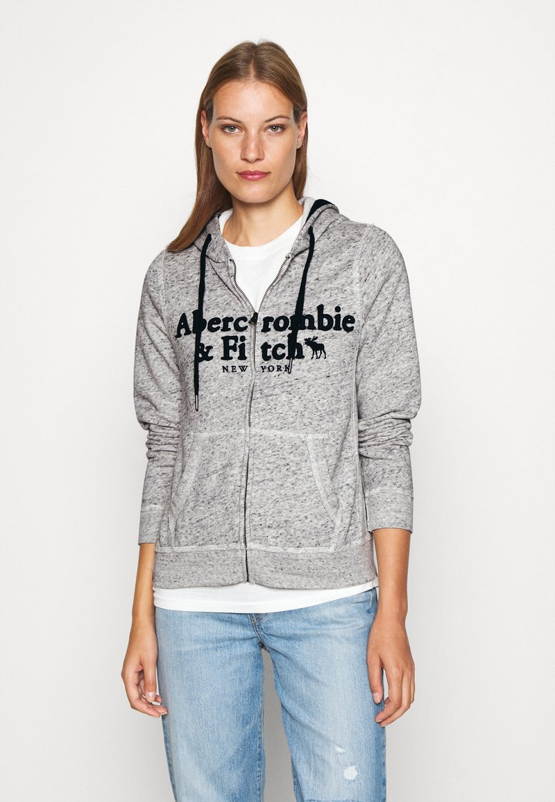 Abercrombie & Fitch - LONG LIFE FULL ZIP - Bluza rozpinana - grey