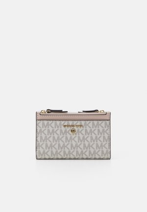JET SET CHARM ZIP CARD CASE - Punge - offwhite