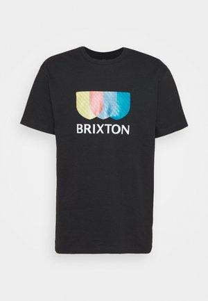ALTON STRIPE - T-shirt con stampa - black