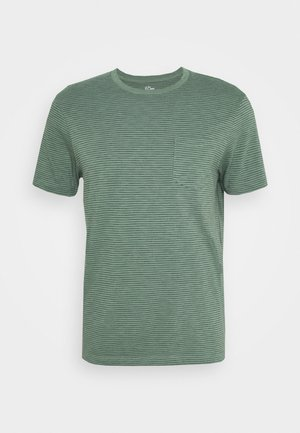SLUB BARTLETT STRIPE TEE - Print T-shirt - baywood green