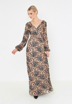 Długa sukienka - taupe