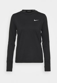 Nike Performance - W NK ELEMENT  - T-shirt de sport - black/silver - 0