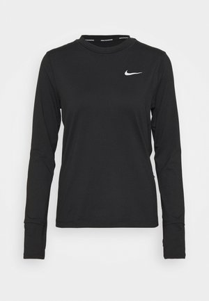 W NK ELEMENT  - Long sleeved top - black/silver