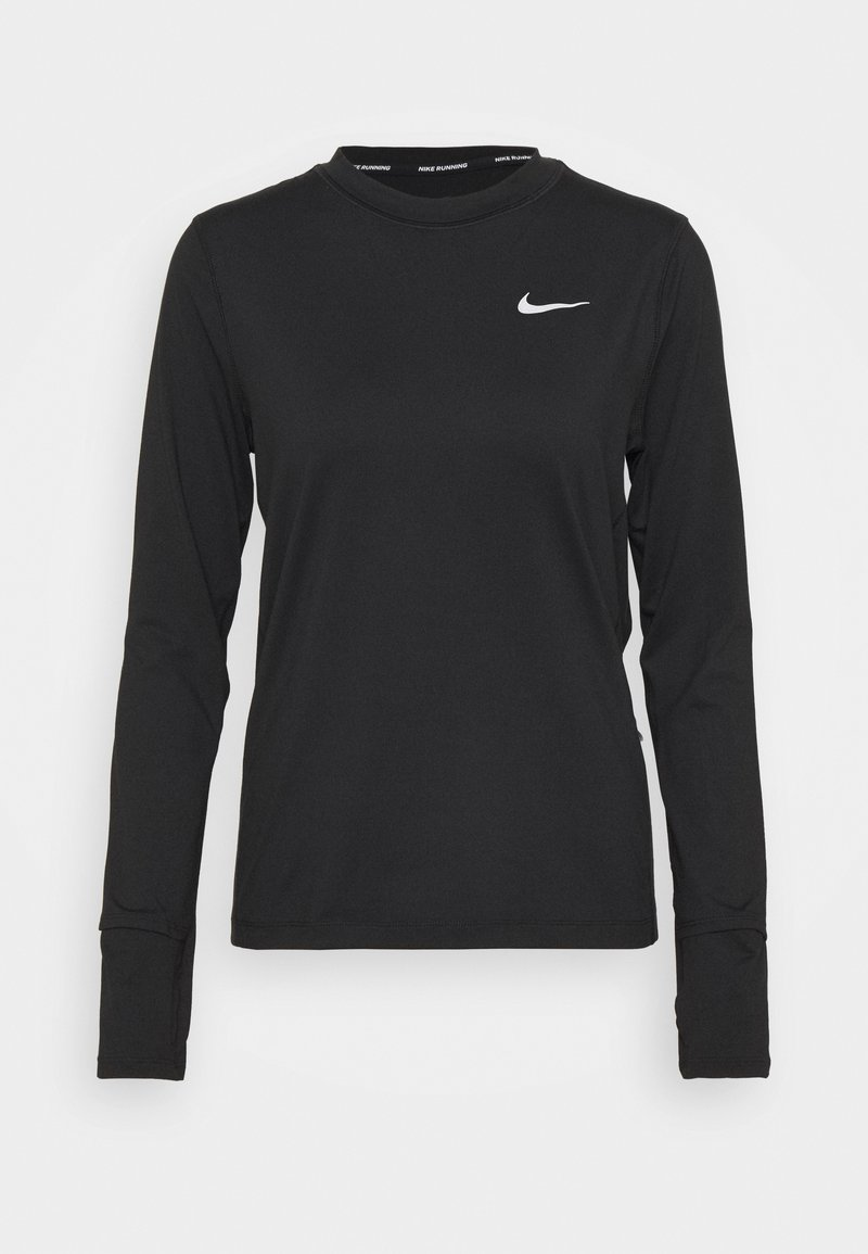 Nike Performance - W NK ELEMENT  - T-shirt de sport - black/silver