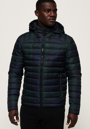 ZIP FUJI - Winterjas - navy blue checkered