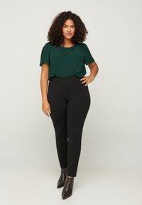Zizzi - SPARKLY  - Leggings - Trousers - black - 0