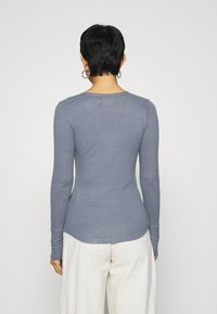 Abercrombie & Fitch - COZY HENLEY - Jumper - medium blue - 2