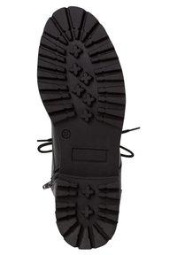Tamaris - Šněrovací kotníkové boty - black uni - 5