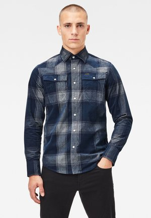 3301 SLIM CHECK - Overhemd - sartho blue james check