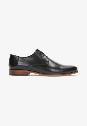 ALEF - Elegantní šněrovací boty - black