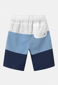 Nike Sportswear - WOVEN BLOCK - Short - white/psychic blue/midnight navy - 1
