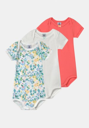 3 PACK - Body - white/coral