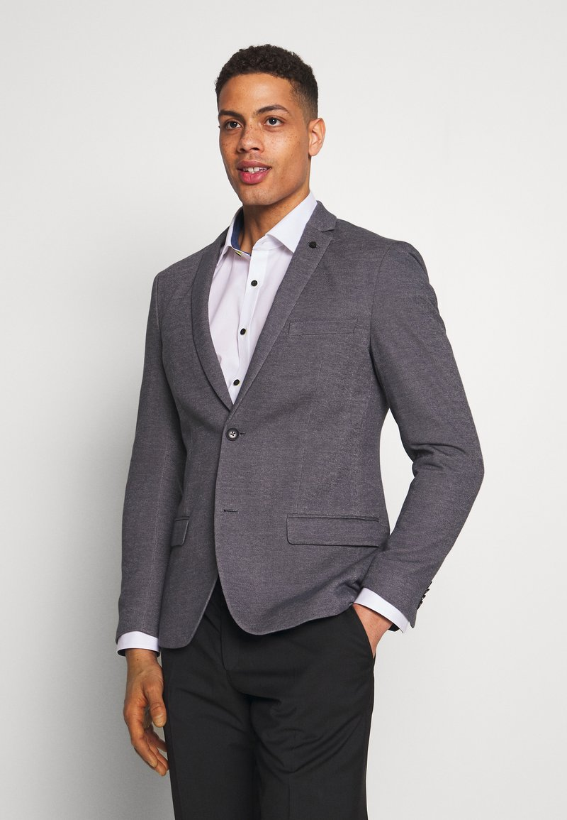 Esprit Collection - SOFT TWO TONE - Suit jacket - grey