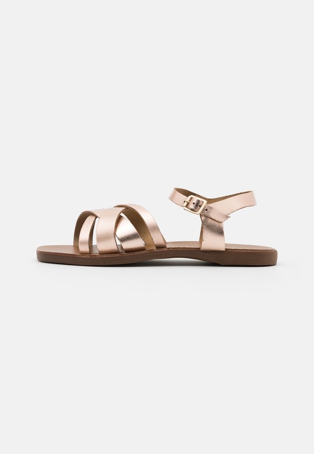 WIDE FIT GEANETTE 2 PART SANDAL - Sandals - rose gold
