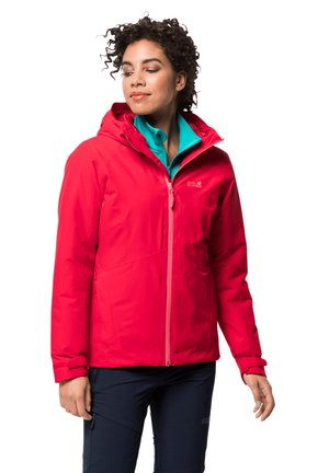 Waterproof jacket - clear red