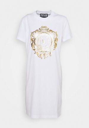 DRESS - Jersey dress - optical white/gold