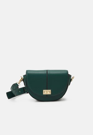 ANNA STRUCTURED CRESCENT SADDLE - Across body bag - forest green
