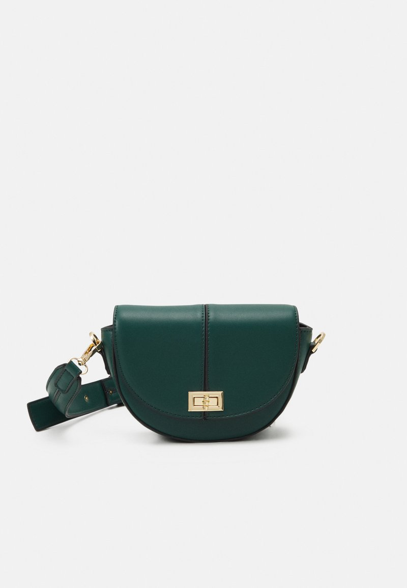 Forever New - ANNA STRUCTURED CRESCENT SADDLE - Across body bag - forest green