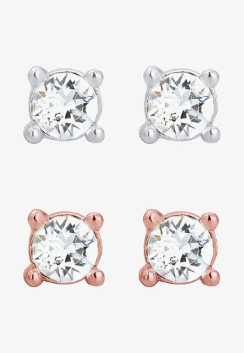 GLASS CRYSTAL - Pendientes - rose gold-coloured