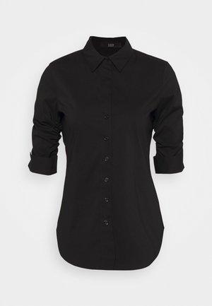 THE ESSENTIAL BLOUSE - Button-down blouse - black