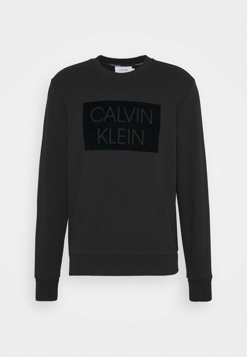 Calvin Klein - FLOCK BOX LOGO - Sweatshirt - black