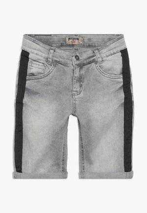 BOYS STREIFEN - Denim shorts - medium grey