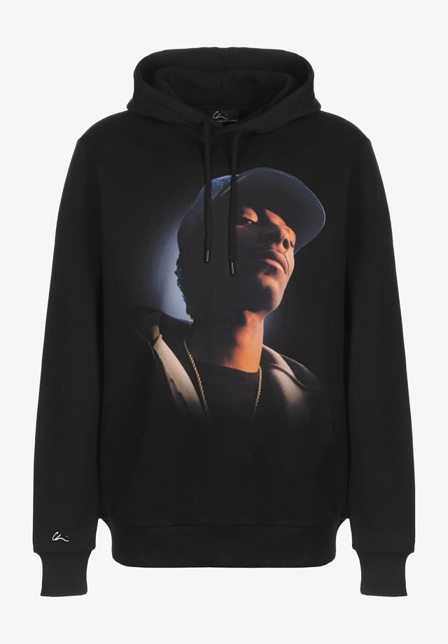 Hoodie - black/chrome/print chrome blue