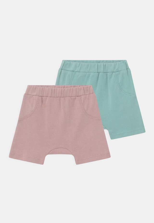 EMILIO BABY 2 PACK UNISEX - Shorts - mauve/light teal