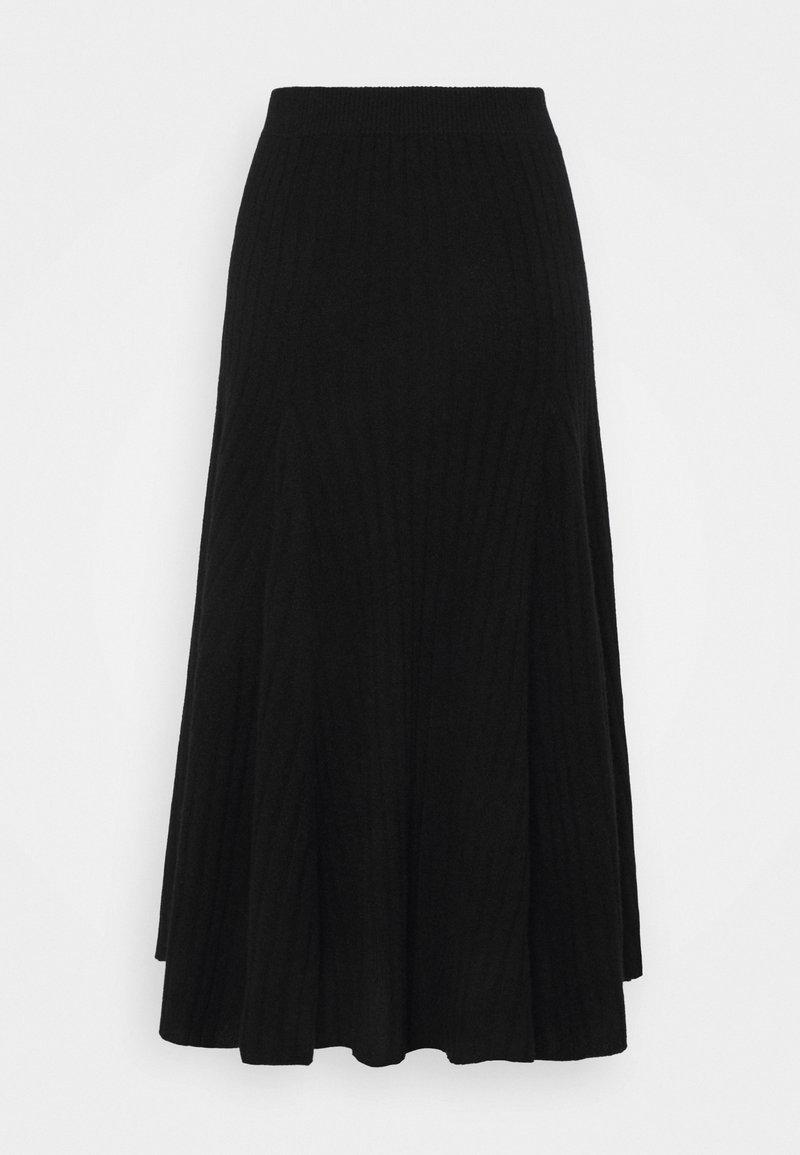 pure cashmere - FLARED SKIRT - A-lijn rok - black