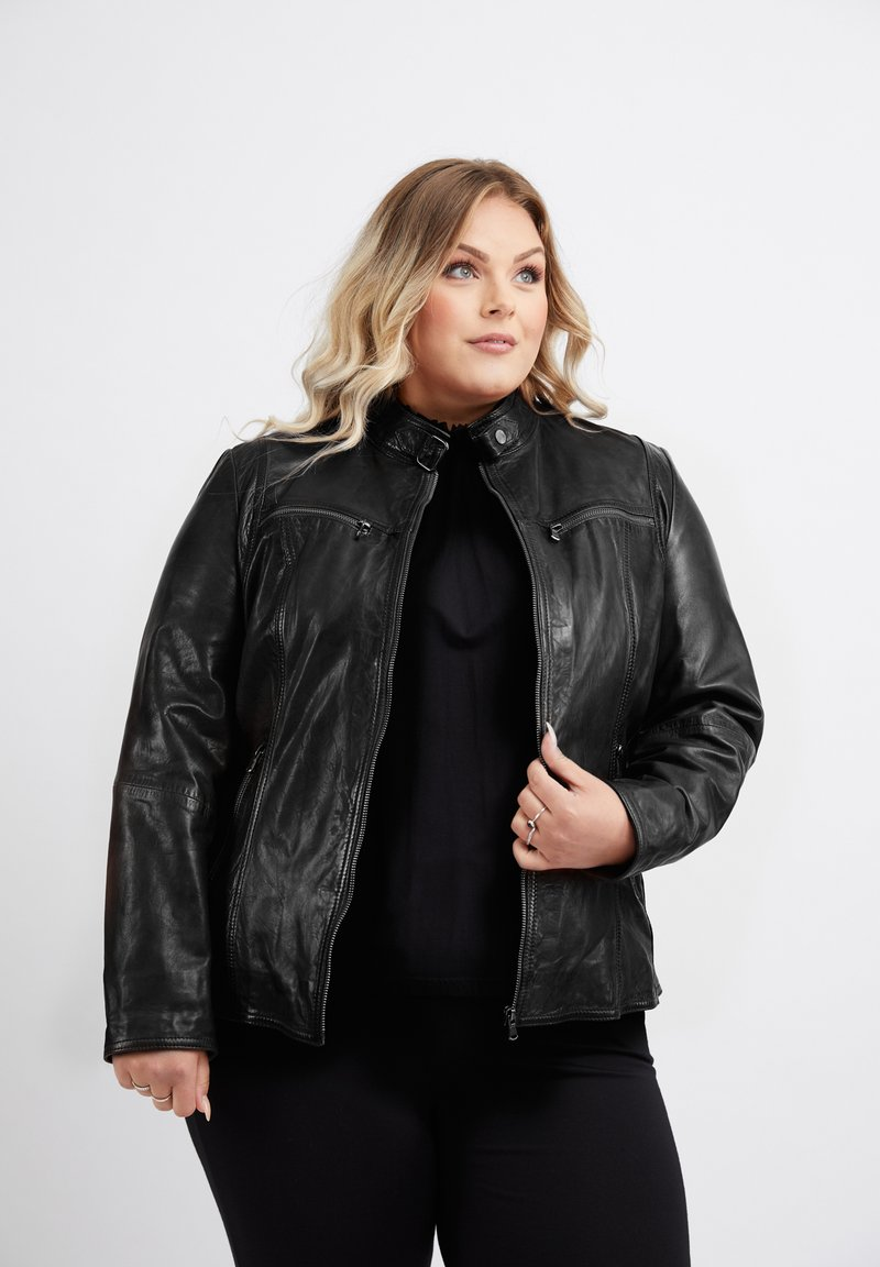 No.1 by Ox - Leather jacket - black