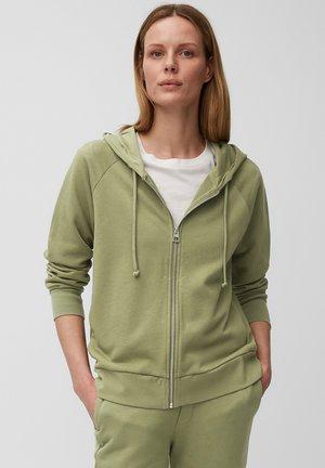 Zip-up hoodie - dried sage