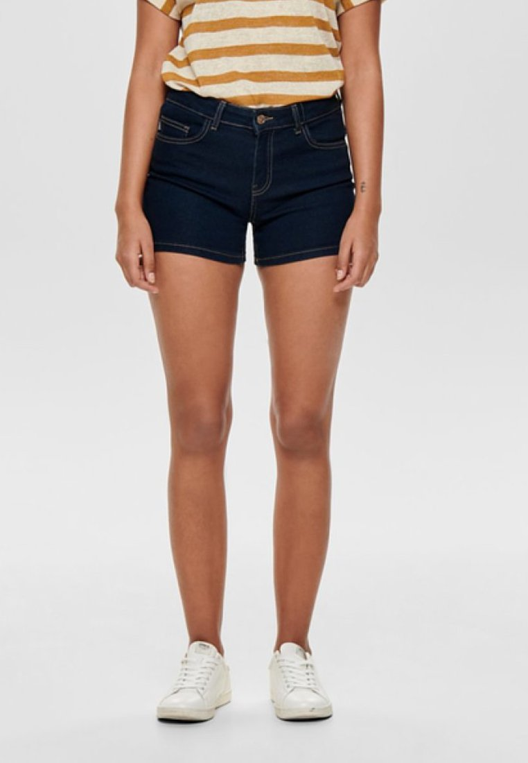 ONLY - CARMEN REG - Denim shorts - dark blue denim
