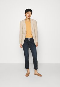 TOM TAILOR - TAPERED RELAXED - Trousers - dark blue - 1