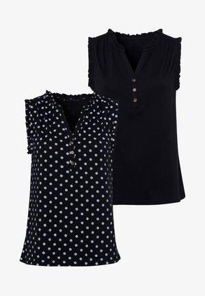 2 PACK - Blouse - schwarz schwarz gepunktet