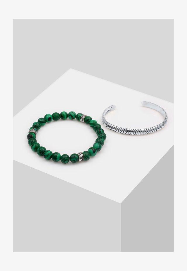 2ER SET - Bracciale - grün
