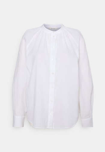 BLOUSE LONG SLEEVE - Button-down blouse - white