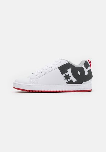 COURT GRAFFIK - Zapatillas skate - white/grey/red