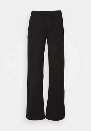 ESSENTIALS WIDE LEG PANT - Trousers - black